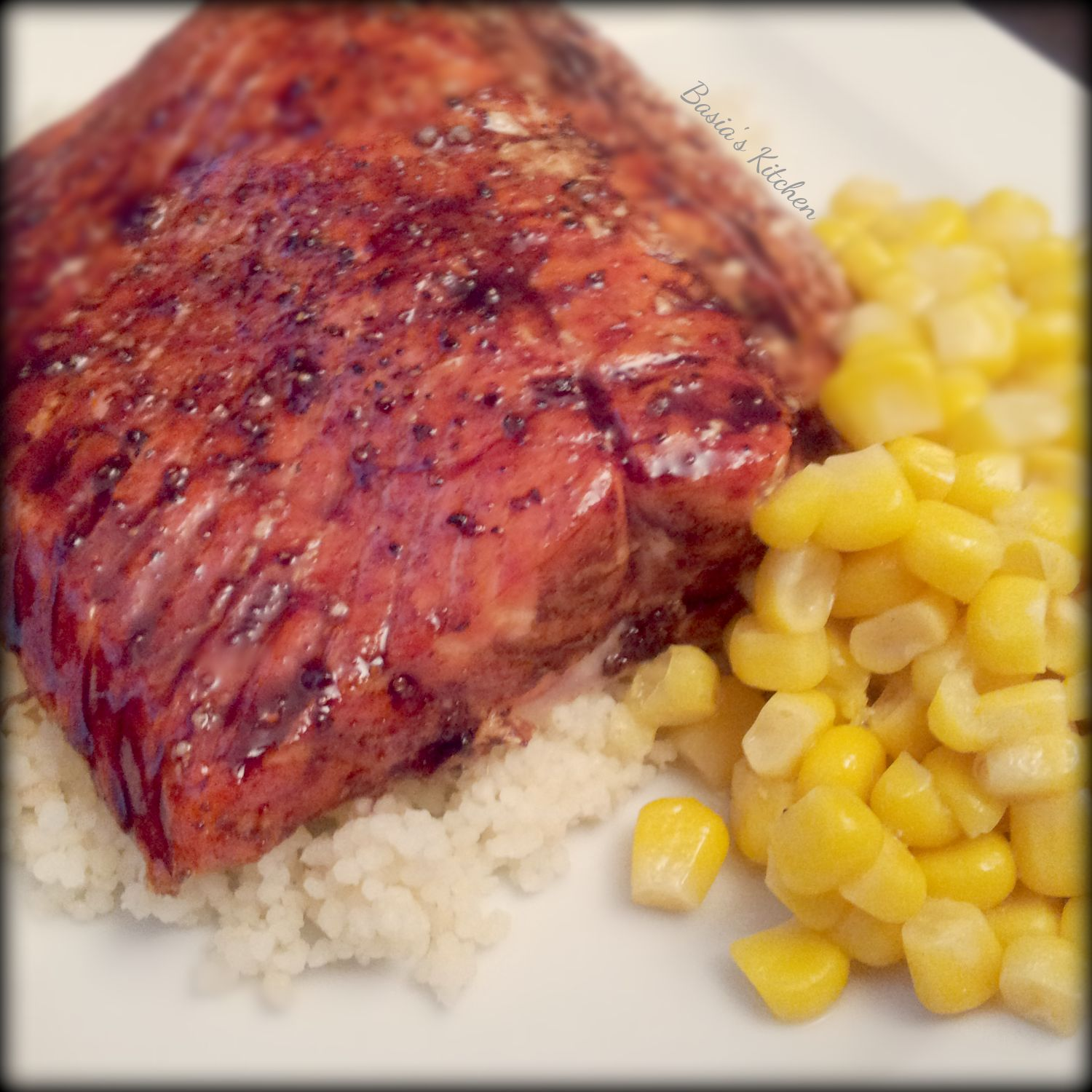 ... balsamic glazed salmon fillets sweet savory balsamic glazed salmon