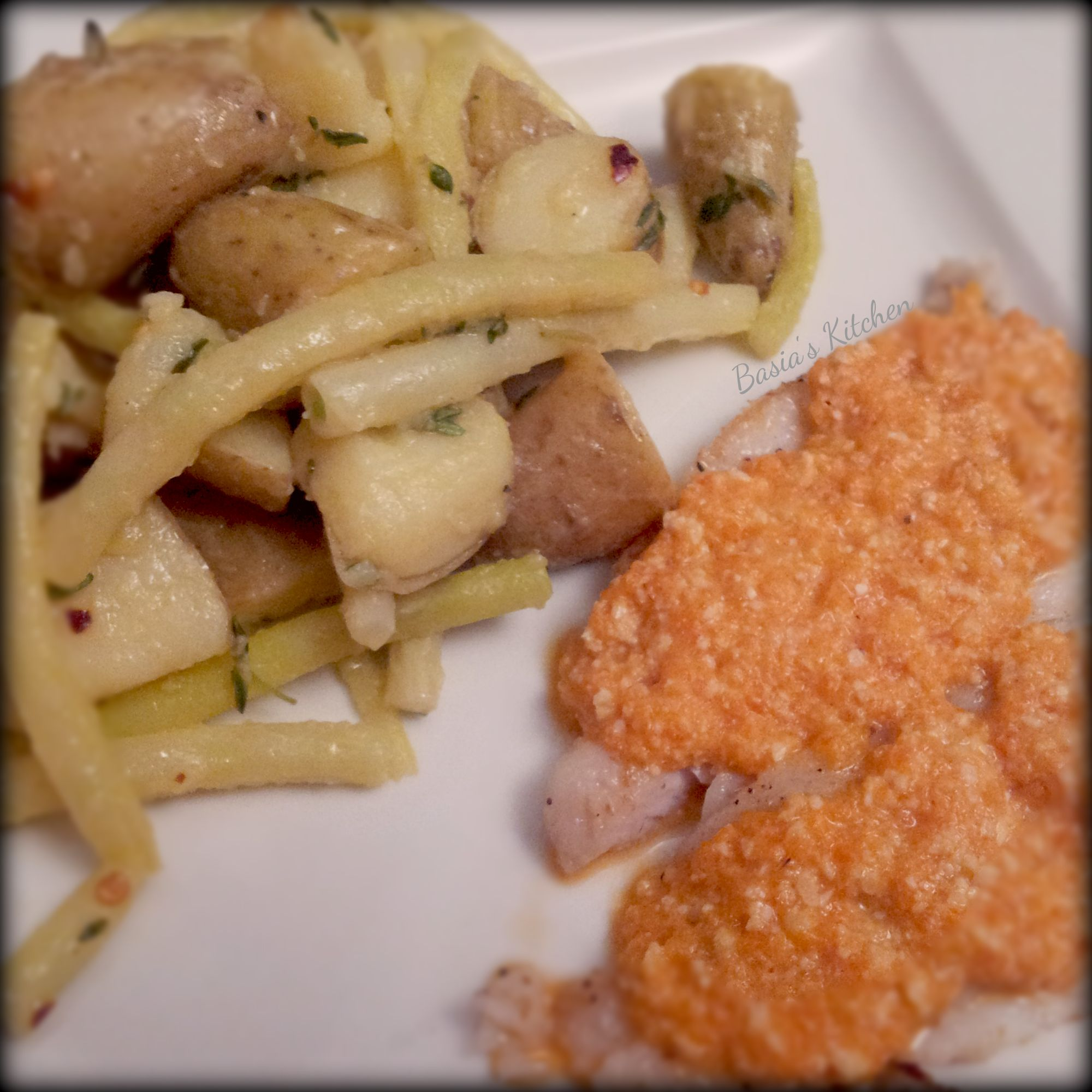Sole with Roasted Red Pepper Pesto and German Potato Salad | Basia's ...